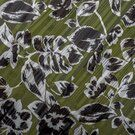 Sjaal - KN20 16522-219 Floral Satin Lurex Stripe groen