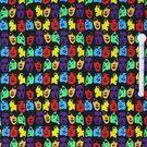 Canvas stof - Ptx 943000-3 Canvas portret zwart/multi