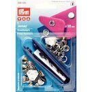 Knopen - Prym naaivrijdrukknoop jersey gladde kap 10mm 9 stuks (390.120)