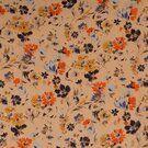 100% Polyester - KN21 17936-570 Chiffon yoryo foil romantic flowers peach