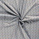 Hobbystof - Dapper21 15806-003 Katoen bedrukt skulls lichtblauw
