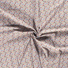 Hobbystof - Dapper21 15806-050 Katoen bedrukt skulls wit