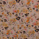Polyester stof - KN21 17936-020 Chiffon yoryo foil romantic flowers off-white