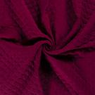 Baumwollstoffe - NB21 16248-018 Musselin wattiert bordeaux