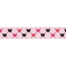 Band - Ripslint hartje lichtroze 25mm 22384-749