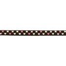 Geweven band - Ripslint hartje donkerbruin 9mm 22384-881