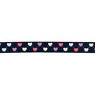 Band - Ripslint hartje donkerblauw 16mm 22384-210