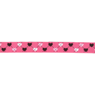 Band - Ripslint hartje fuchsia 16mm 22384-786