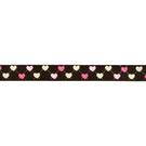 Geweven band - Ripslint hartje 16 mm donkerbruin 22384-16