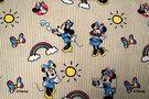 Katoen Tricot - JO 4983-60 Katoen Minnie streep blauw