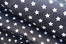 Baldachin - NB 5571-068 Baumwolle Sterne dunkelgrau