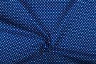 Boerenbont stoffen - NB 1264-005 Katoen kleine hartjes kobaltblauw