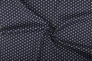 Boerenbont stoffen - NB 1266-068 Katoen kleine sterretjes donkergrijs