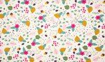 KC2901-031 Tricot mixed leaves off-white/multi