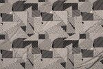 NB19 11143-054 Viscose abstract print taupe