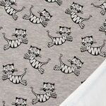 KN19/20 15651-690 Joggingstoff happy Tiger grau/weiß