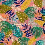 ByPoppy19/20 7400-005 Canvas Tropical Leaves rosa