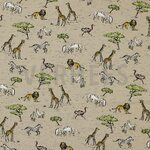 ByPoppy19/20 7217-009 Tricot Safari in Africa beige