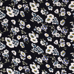 NB20 13363-008 Viscose stretch flowers donkerblauw