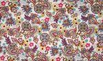 KC0408-041 Cotton poplin paisley wit/multi