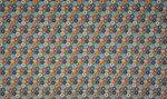 OR4508-123 Tricot organic bloemen dusty groen