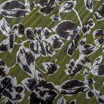 KN20 16522-219 Floral Satin Lurex Stripe groen