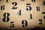 Jute cijfers naturel/zwart