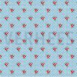 ByPoppy19 5751-002 Tricot bloemen/stipje blauw