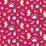 ByPoppy19 6530-006 French Terry glitter Candy Dream fuchsia