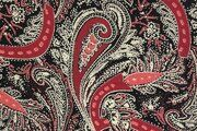 NB19/20 12139-018 Viscose abstract flowers bordeaux