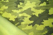 KC8239-085 Softshell Camouflage reflection neon geel