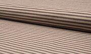 Q11258-058 Stretch Bamboo Bengaline streep bruin