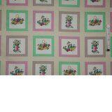 Ptx 940046-11 Katoen ruit/bloemen creme/roze/groen