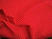 NB 5575-015 katoen Stipjes rood/wit