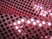KN 0142-880 Paillette stof licht roze