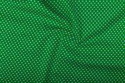 NB 1264-025 Katoen kleine hartjes groen
