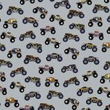 ByPoppy19 6012-005 Sweattricot Monster trucks grijs