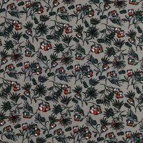 ByPoppy19/20 7338-006 Tricot modal bloemen grijs - ByPoppy19/20 7338-006 Tricot modal bloemen grijs