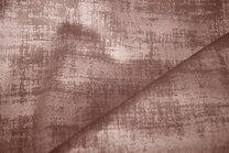 BM 340066-F7-X Interieur- en gordijnstof fluweelachtig patroon donkerbeige/bruin - BM 340066-F7-X Interieur- en gordijnstof fluweelachtig patroon donkerbeige/bruin