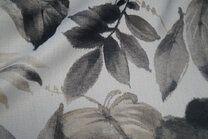 BM 6535501-0 Verduisterende gordijnstof bladeren grijs - BM 6535501-0 Verduisterende gordijnstof bladeren grijs