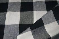 Katoen BB ruit 5 cm zwart/wit - Katoen BB ruit 5 cm zwart/wit