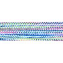 Vierkant koord gemeleerd groen/blauw/roze 5mm (95687) - Vierkant koord gemeleerd groen/blauw/roze 5mm (95687)