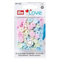Prym Love drukknopen hart pastelkleuren (393.030) - Prym Love drukknopen hart pastelkleuren (393.030)
