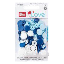 Prym Love drukknopen blauw/wit (393.009) - Prym Love drukknopen blauw/wit (393.009)