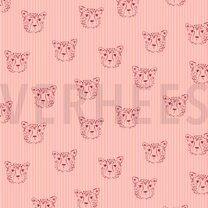 ByPoppy20/21 7661-001 Poplin leopard portrait roze - ByPoppy20/21 7661-001 Poplin leopard portrait roze