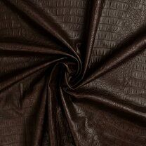 KN20/21 0845-100 Crocolino stretch leather donkerbruin - KN20/21 0845-100 Crocolino stretch leather donkerbruin