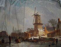 Ptx20/21 924467-40 Tricot paneel winter/molen multi - Ptx20/21 924467-40 Tricot paneel winter/molen multi