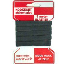 -Rode kaart elastiek zwart 10mm - Rode kaart elastiek zwart 10mm