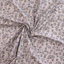 Ptx20/21 310046-52 Katoen paisley bloemen zand - Ptx20/21 310046-52 Katoen paisley bloemen zand