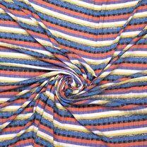 Ptx21 316012-61 Tricot gestreept paars/rood/zwart/blauw - Ptx21 316012-61 Tricot gestreept paars/rood/zwart/blauw